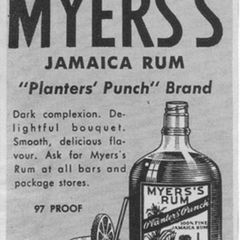 1950 Myers&#039;s Rum Advertisements