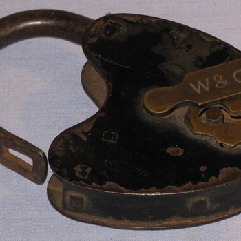 Old brass padlock...any ideas on the source of this item?  - Tools and Hardware