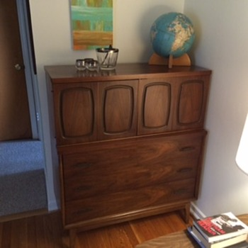 Mid century dresser converted to bar