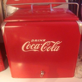 Coca-Cola cooler w/ box