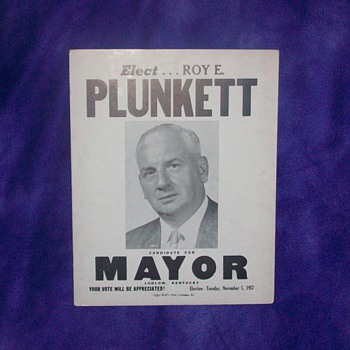 VINTAGE POLITICAL POSTERS WITH THEIR PICTURE ON POSTER - Posters and Prints