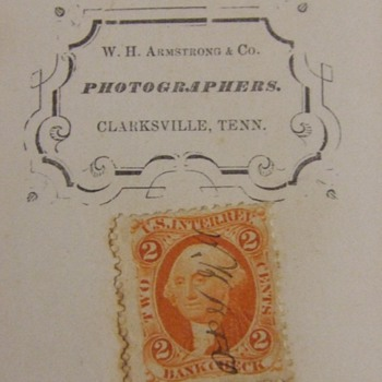 CDV of Woman from Clarksville, TN with tax stamp - Photographs