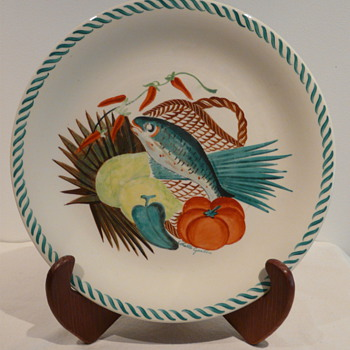 COLETTE GUEDEN PLATE FOR PRIMAVERA   - Art Pottery