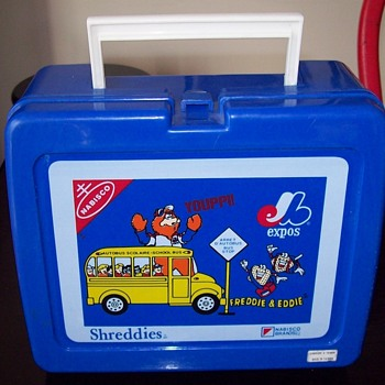 Defucnt MONTREAL EXPOS Stundent Day Promo Give Away YOUPPI NABISCO SHREDDIES SCHOOL SAFETY LUNCHBOX - Baseball