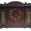 Gilbert Co. Arts &amp; Crafts / Secessionist Style Oak Mantle Clock