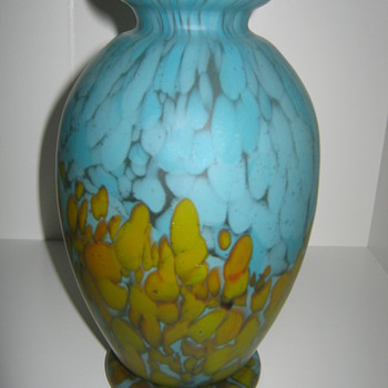 Czechoslovakia Satin Glass Vase Kralik? - Art Glass