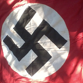 "NAZI BANNER WW2 ""Taken by Russian soldier from BERLIN' 1945. - Military and Wartime"