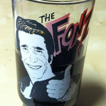 Fonz Dr Pepper Glass 1977