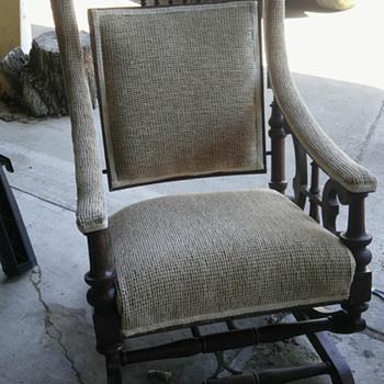 Antique lion head glider - Furniture