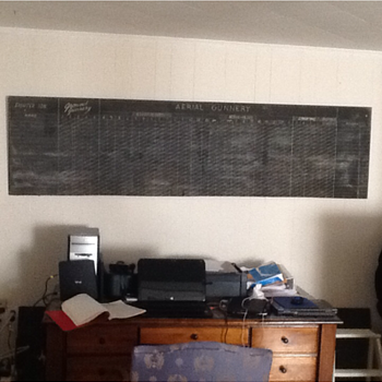8 ft long military chalkboard