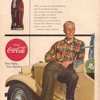 1954 - Coca Cola Advertisement - Advertising