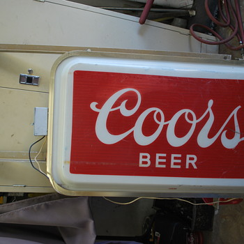 Commercial Outdoor Lighted Coors sign - Signs