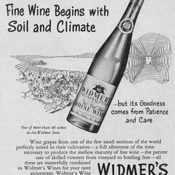 1950 Widmer's Wine Advertisement - Advertising
