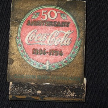 1936 coca cola matchbook
