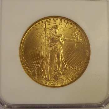 "$20 U.S. Gold Saint Gaudens Double eagles 1914-D & 1915-S ""With Motto"" - US Coins"