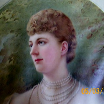 HRH The Princess Of Wales Silk Print . Who is she ?