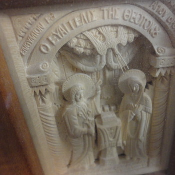 Greek or Russian orthodox Wooden Relief 1935 Icon