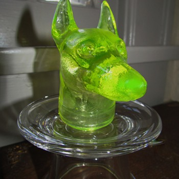 Doberman Pinscher Dog &amp; Lab or Retriever Dog - Boyd&#039;s Glass - Animals