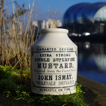 RARE JOHN ISMAY EARLY MUSTARD POT NEWCASTLE