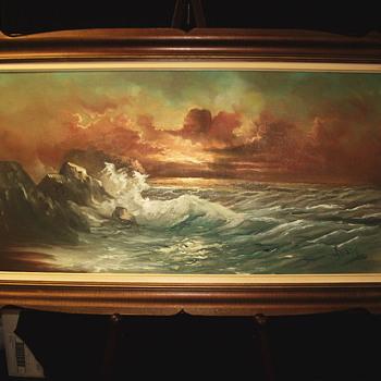"Sunset in Shore line""""ROSSI"""" ?  - Visual Art"