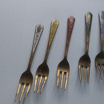 Beautiful Brass Forks