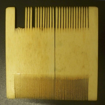 Ivory Comb -  Lice comb?   Very Fine and Old