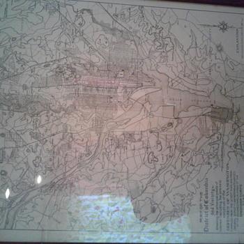 Antique 26th national encampment map
