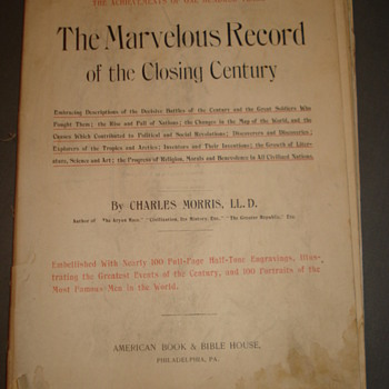 THE MARVELOUS RECORD OF THE CLOSING CENTURY - Books