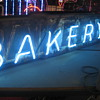 Vintage 1940's BAKERY Antique Neon Sign