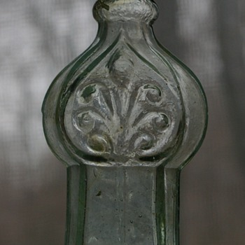 Antique Glass Whimsie With Scroll Design
