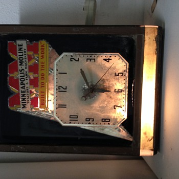 1939 Minneapolis moline advertising clock - Clocks