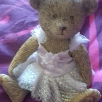 russ ballerina teddy bear figure