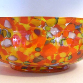 Czech large Bowl - Art Glass