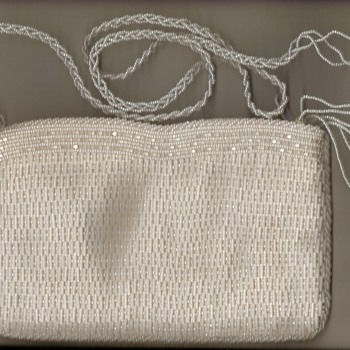 Walborg White Beaded Handbag - Bags