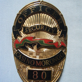 MORONGO CASINO SECURITY OFFICER'S BADGE - Medals Pins and Badges