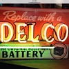 "1950's ""DELCO BATTERY""neon tin sign"
