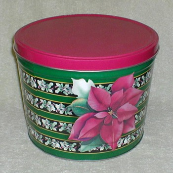 Christmas Tin - Poinsettia