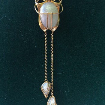 Jugendstil gold & pearl pendant - Art Nouveau