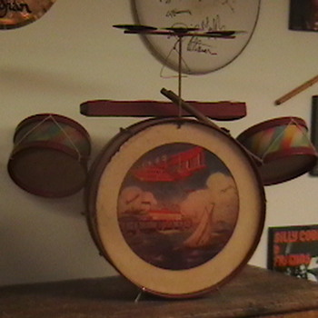 1930s Toy Drum Set - Toys