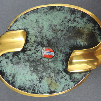 Kaiserslauter Brass Ash Tray - Tobacciana