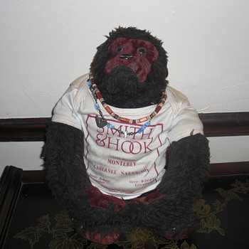 old stuffed monkey