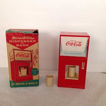 Coca-Cola Miniature Dispenser and Bank - Coca-Cola