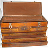 Antique Wooden Carpenter/Machinist Tool Box/Chest