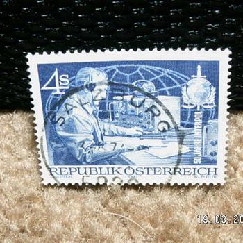 1973 Used 4s Republik Österreich 50 Jahre INTERPOL - Stamps