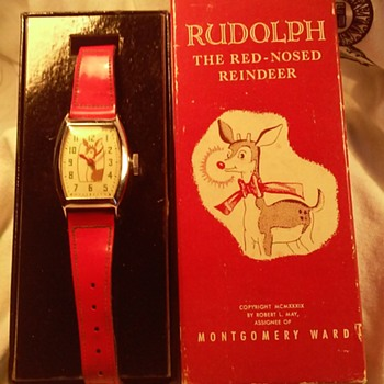LEFT FACING RUDOLPH IN BOX - Wristwatches