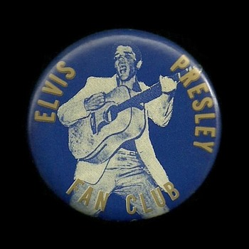 1956 Elvis Presley Fan Club Pinback Button