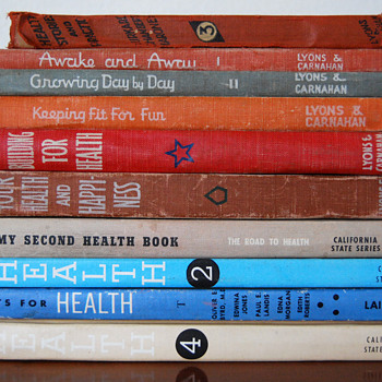 Vintage School Health Books