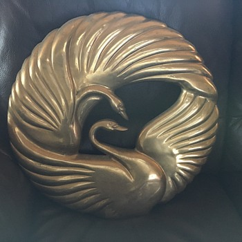 Korean Brass kissing swans