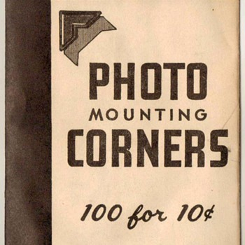 1950's - Dennison Photo Mount Corners