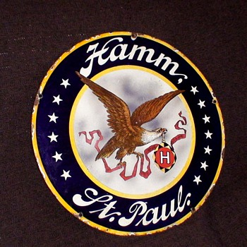 Hamm Beer sign - Breweriana